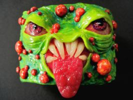 pus face polymer clay creature cuff by dogzillalives