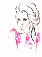 WIN Fashion illustration watercolor portrait by IRSart