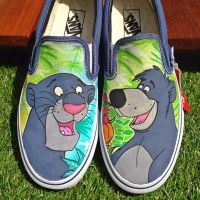Jungle book custom Vans Baloo Bagheera by VeryBadThing