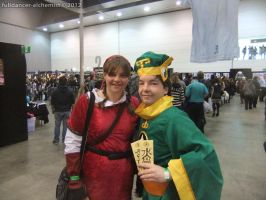 Armageddon Expo 2012 - Syaoran Li and Red Link by fulldancer-alchemist