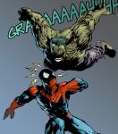 spiderman and hulk in color by ardian-syaf