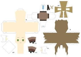 Hetalia Papercraft- Child Liet by Dj-Mewmew