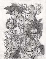 Goku in All his Glorious forms by prabhatjanamanchi
