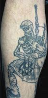 Skeleton Bagpiper +Healed+ by Mr-Taboo