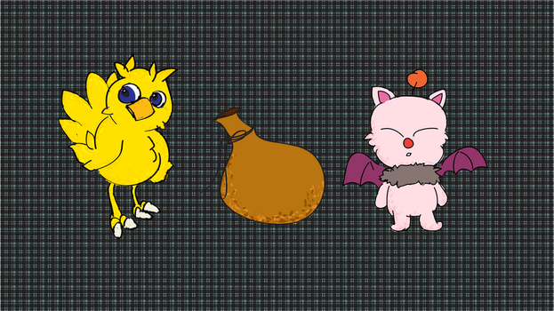 Chocobo and Moogle by amormimosse
