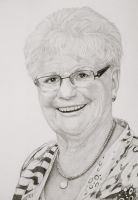 Drawing of my mother by mo62