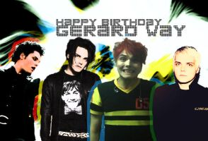 Happy 34th birthday Gerard Way by realtimelord