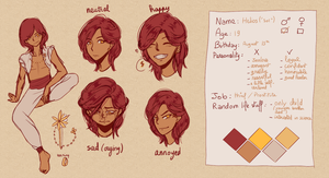 Helios 'Sol' reference sheet by Elsychan