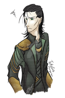 Loki is not amused. by kuroya-ken