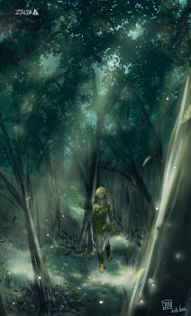 Link and forest by jenjin-jen