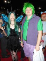 Megacon '13: Queen Chrysalis and Spike by NaturesRose