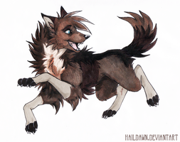 BeulahWolf Commission by HailDawn