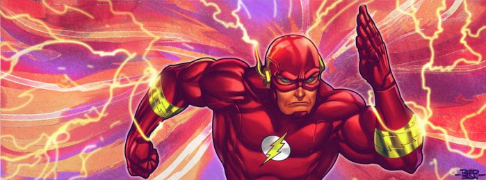 The Flash - Cover to facebook by adagadegelo