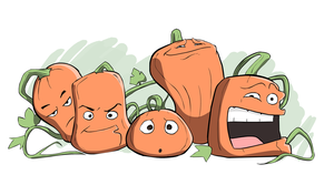 Wacky Pumpkins by legmuscle