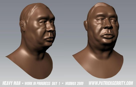 Head Model in Mudbox - Day 1 by mebooky
