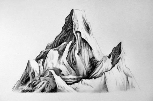 Mountain Drawing Study by LethalChris