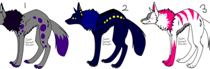 Wolf Adoptables-CLOSED by lizziecat1279
