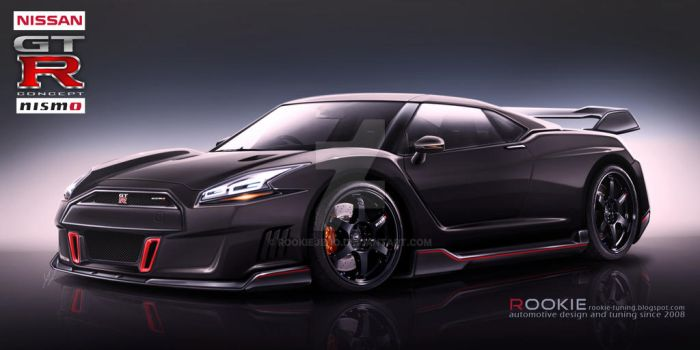 Nissan GT-R R36 concept NISMO black by rookiejeno