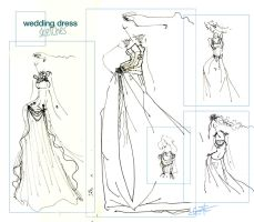 _wedding dress-sketches_ by red-spot