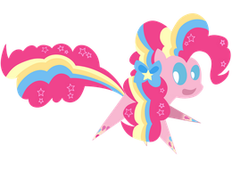 Rainbow Power Pinkie Pie by Dragonfoorm
