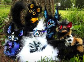 --SOLD--Poseable Fantasy Hand Made Creatures! by Wood-Splitter-Lee