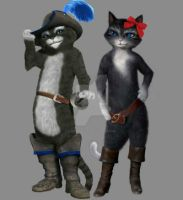 Jake In Boots with Yazmin Snowpaws by JakeInBoots