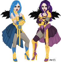 Purple and Blue by Ashuri