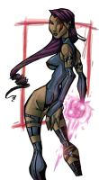 Psylocke Once Again Coloured by UltimateTattts