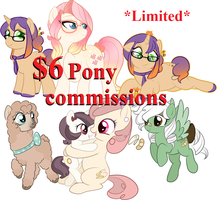 Quick pony commissions $6-Closed by oCrystal