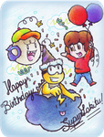 .:Happy (very late) birthday SuperLakitu!:. by CloTheMarioLover