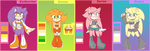 Batch Adoptables - Female Hedgehogs CLOSED by AdoptSonicCharacter