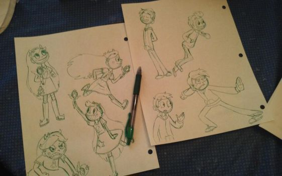 Star vs the Forces of Evil practice sketches by NightFlash02