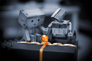 A surprise for Danbo n Wall-E by shoggy
