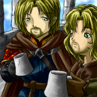 Boromir and Faramir Collab by famira
