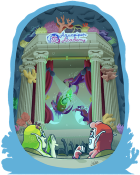 Aquapiper Academy Assembly by The-Quill-Warrior