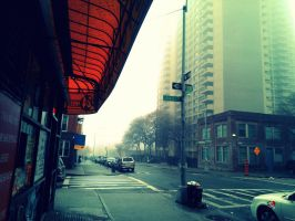 At The Corner, One Foggy Day by jemgirl