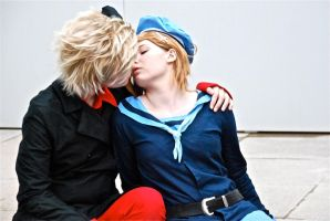 APH: DenNor sweet kiss by Yuya-chanx3