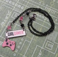 Pink Girl Gamer Xbox Necklace by PlayBox-Designs