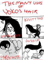 The Many Uses of Yoko's Hair by PinepawStagCat