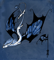 Blue Morpho Dragon by Emissery