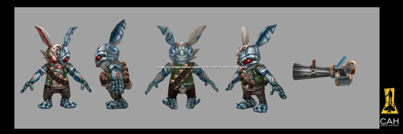 Bunny Terminator 3D Model by Concept-Art-House