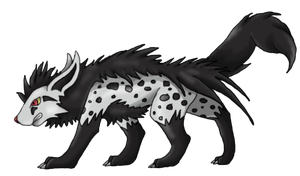 Scaryena (Mightyena evolution) by TheStormUnleashed