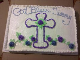Confirmation Cake by missblissbakery