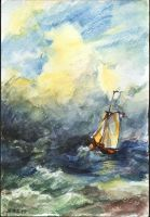My small copy of Aivazovsky's painting by natashavilder