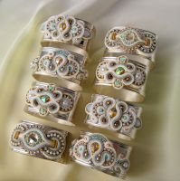 Napkin rings with  soutache by GaleriaAURUS