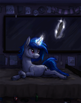 Vinyl scratch and a record by paper-pony