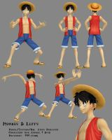 3D - Monkey D Luffy by Athey