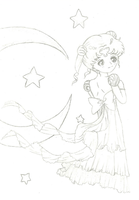 Young Princess Serenity - W.I.P by alannad396