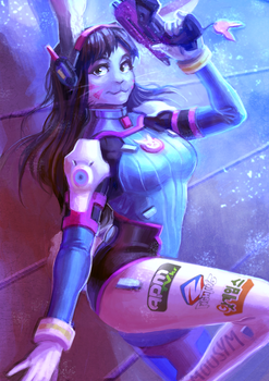 Bunny D.VA-Overwatch theme auction on FA by MousyM