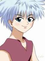 Killua colored by carlusdarienus